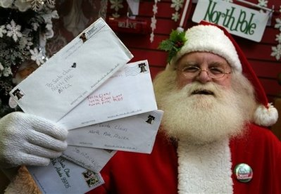 AP: Postal Service to resume North Pole Santa letters