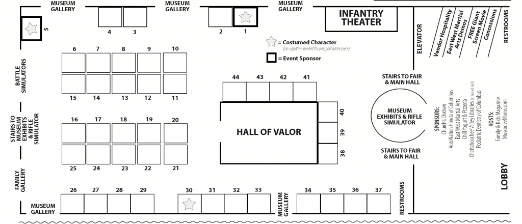 Kids Camp Fair floor plan