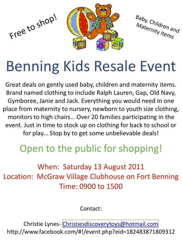 Benning Kids Resale