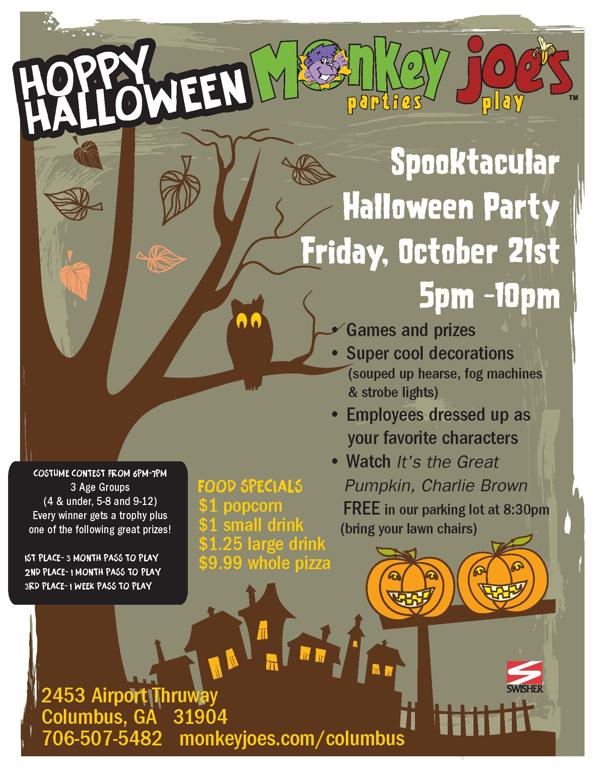 Spooktacular Halloween Party @ Monkey Joes