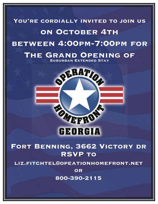 Grand Opening of Operation Home Front