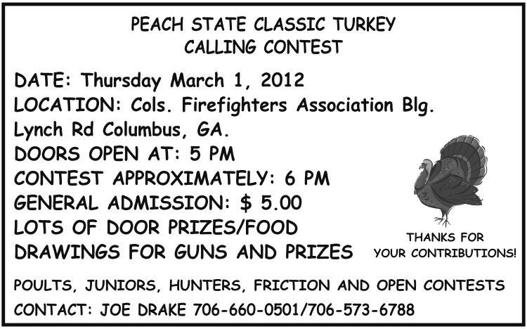 Peach State Classic Turkey Calling Contest