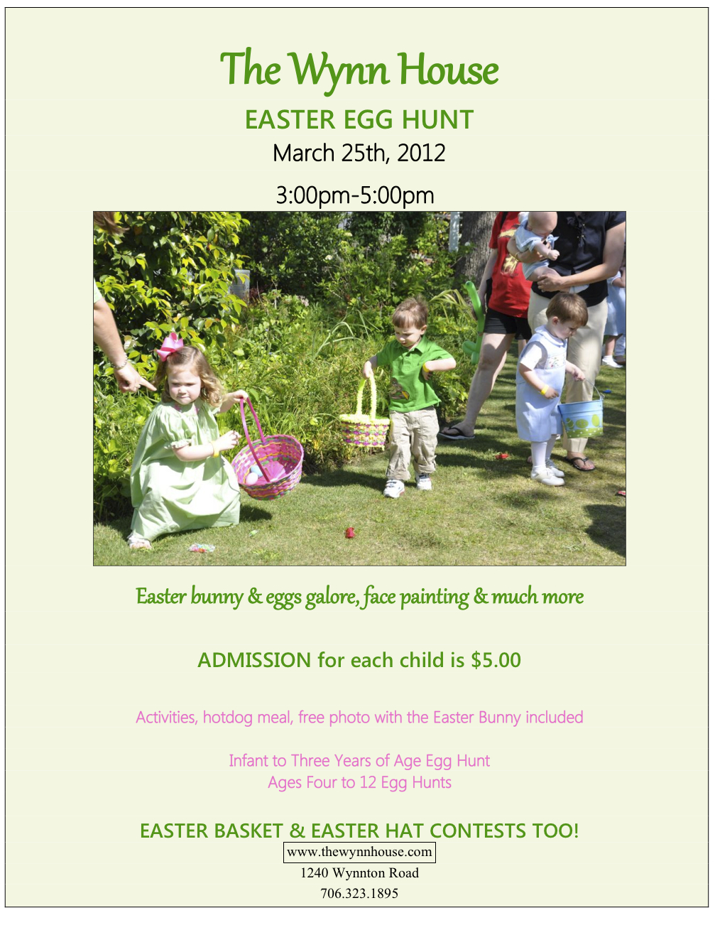 Easter Egg Hunt at the Wynn House