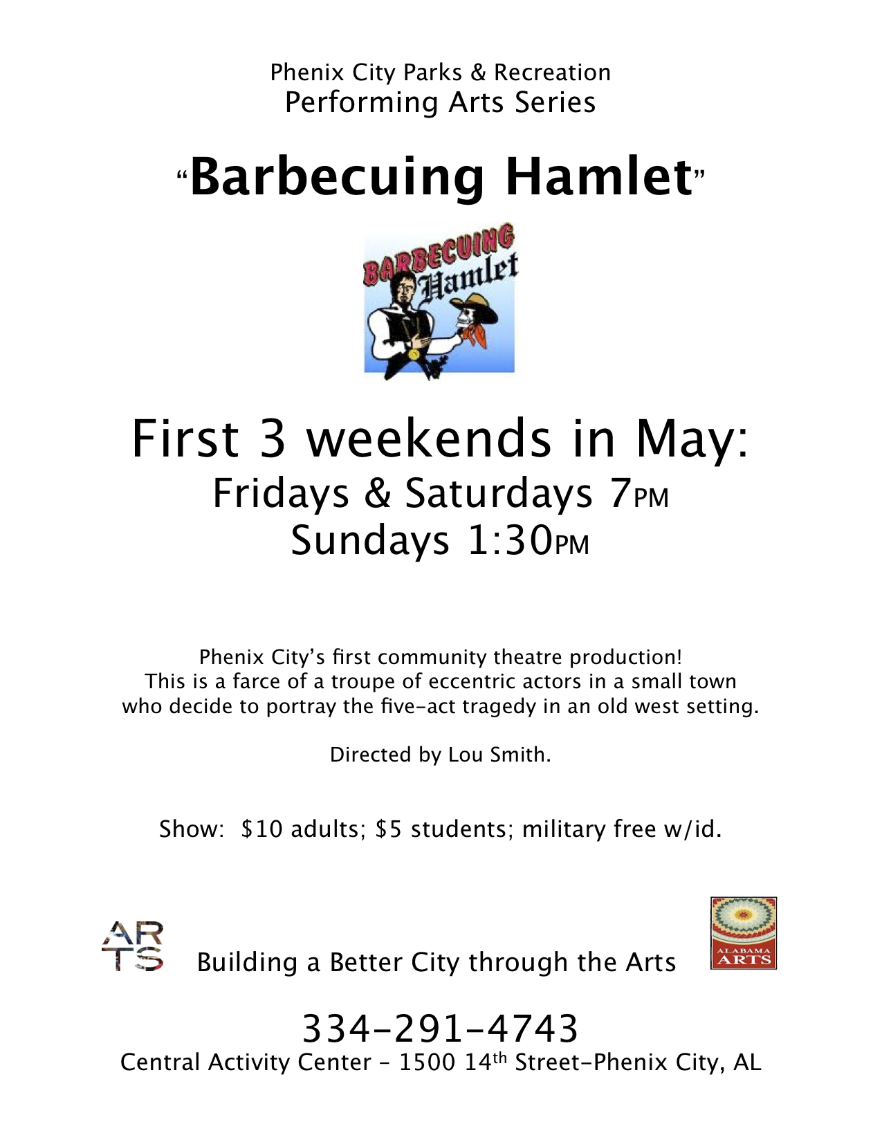 Phenix City Parks and Rec present Barbecuing Hamlet