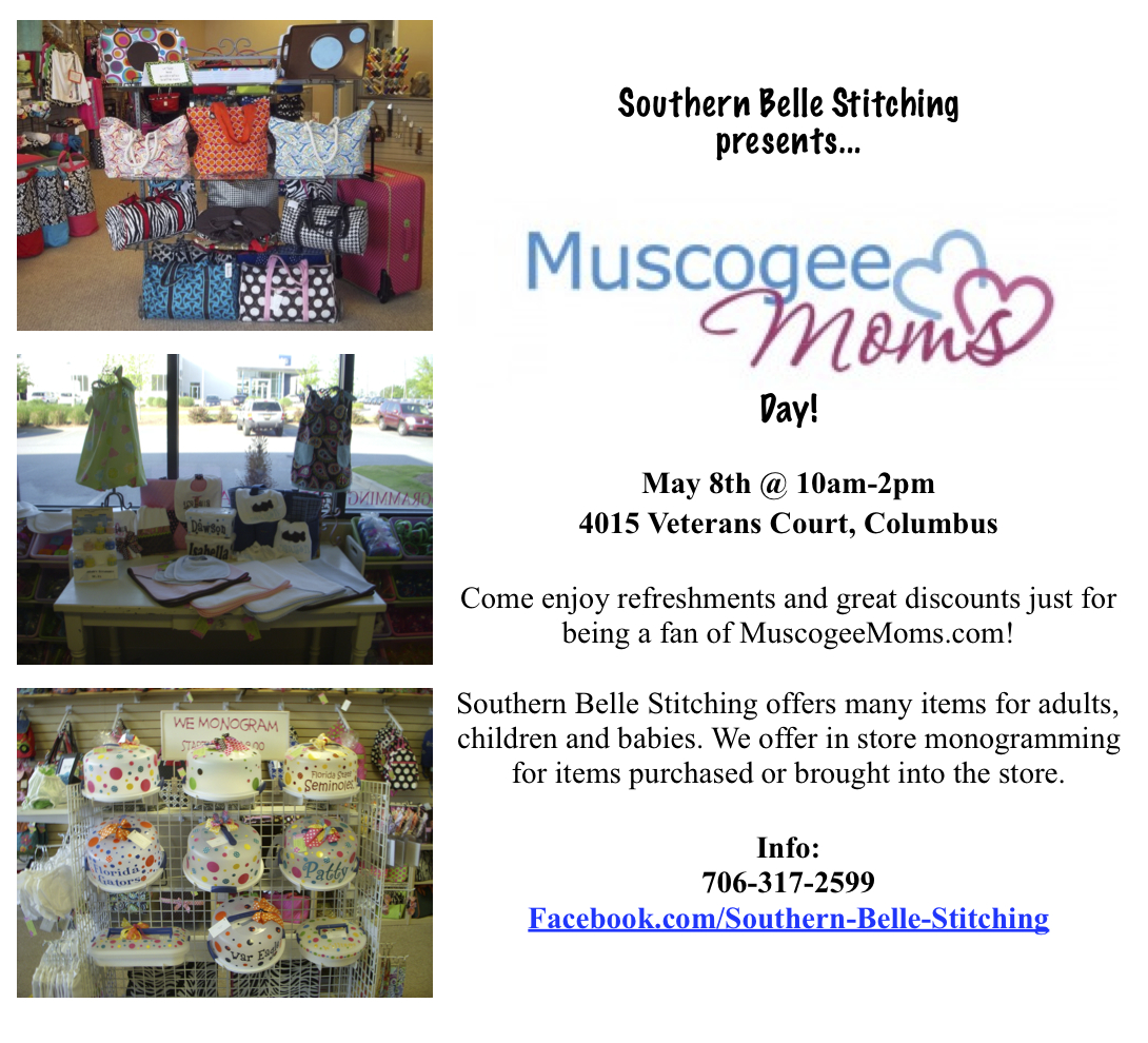 Southern Belle Stitching to host Muscogee Moms Day