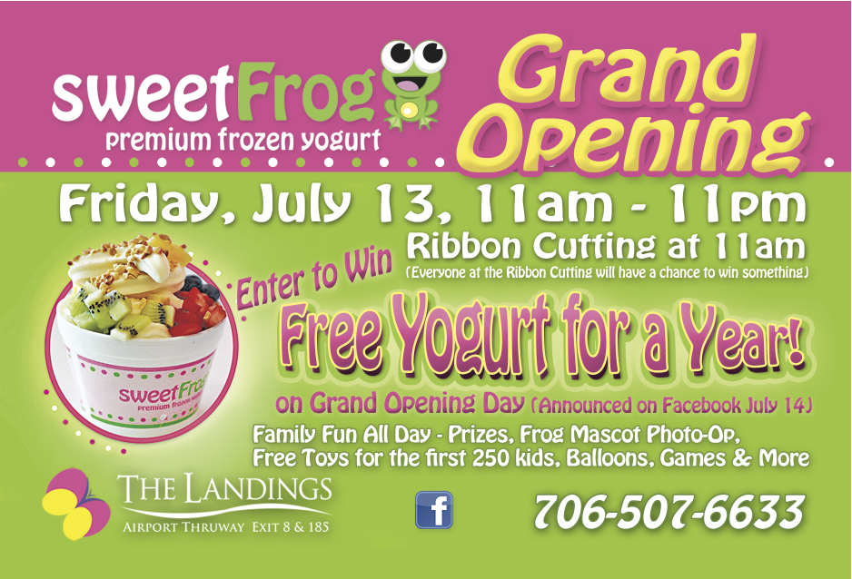 Sweet Frog Grand Opening event