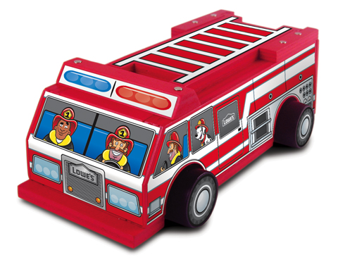 Lowes Build and Grow: Fire Truck
