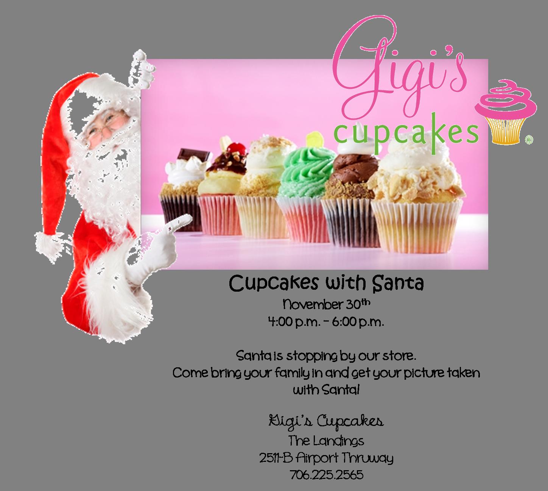 Cupcakes with Santa