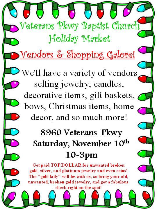 Holiday Market at Veterans Pkwy Baptist Church