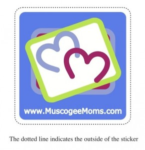 Muscogee Moms Car Decal