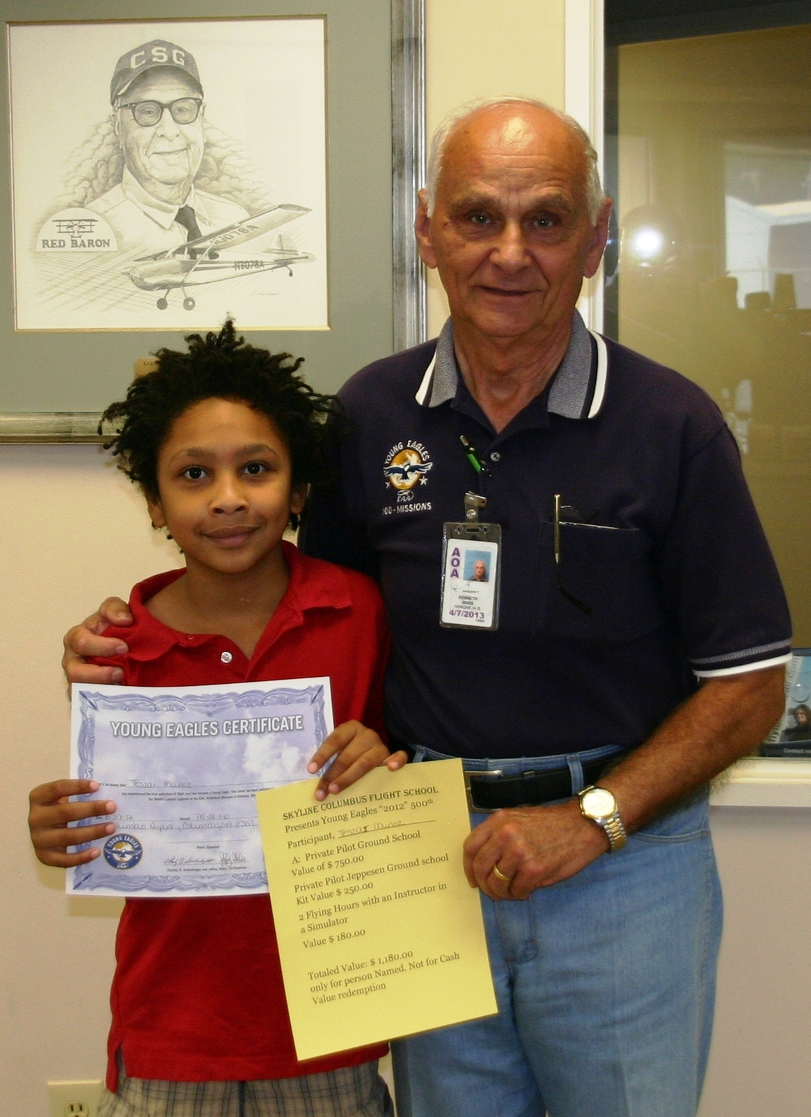 500th Young Eagle takes flight for 2012