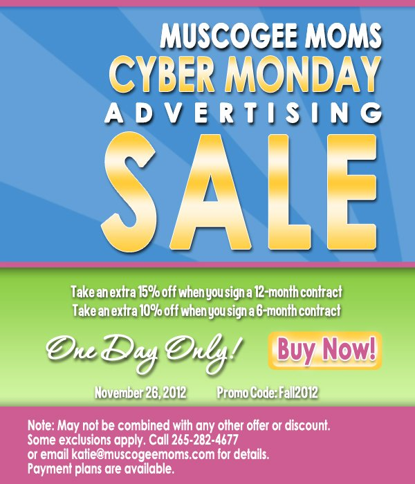Cyber monday advertising sale
