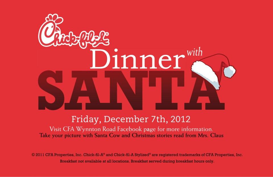 Dinner With Santa @ Chick-fil-A Wynnton Road