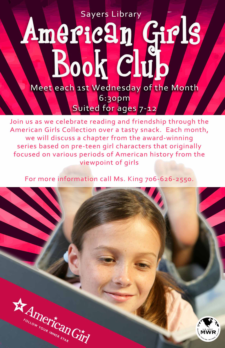 American Girl Club Meeting @ Sayers Memorial Library, Ft. Benning