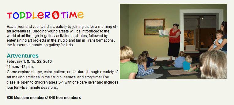 Toddler Time @ Columbus Museum