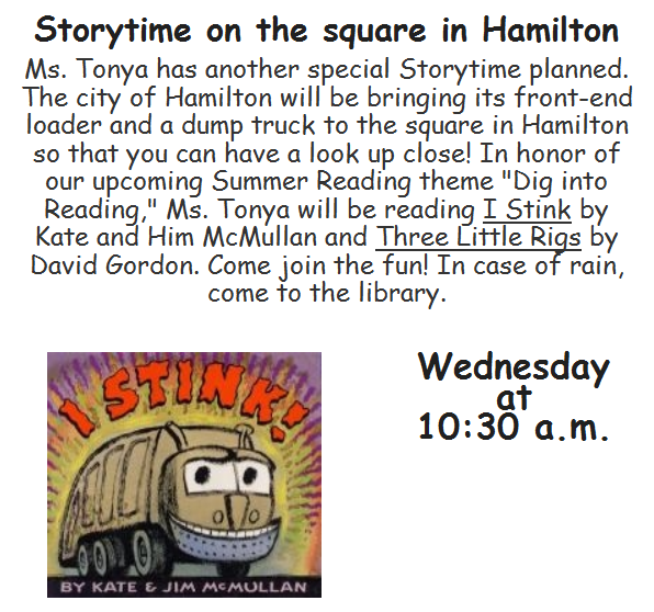 Story Time On The Square Presented by the Harris County Public Library