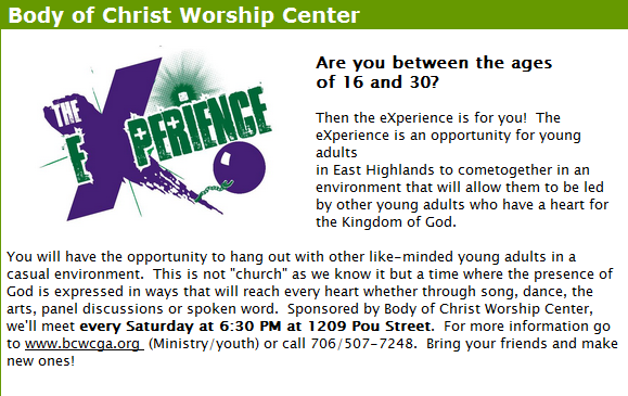The eXperience at Body of Christ Worship Center