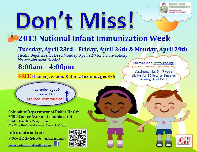 National Infant Immunization Week at the Columbus Health Department ...