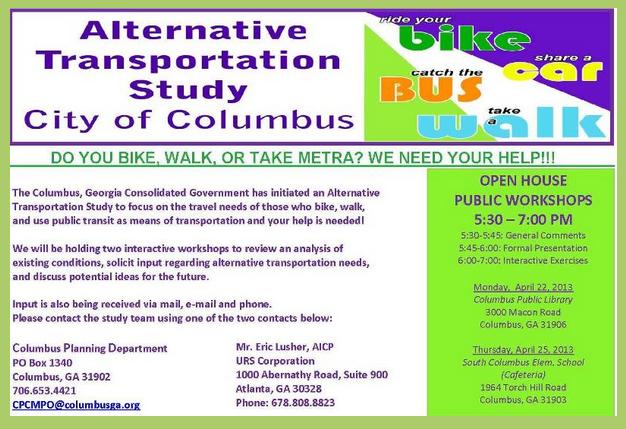 Open House Public Workshops for Alternative Transportation Study
