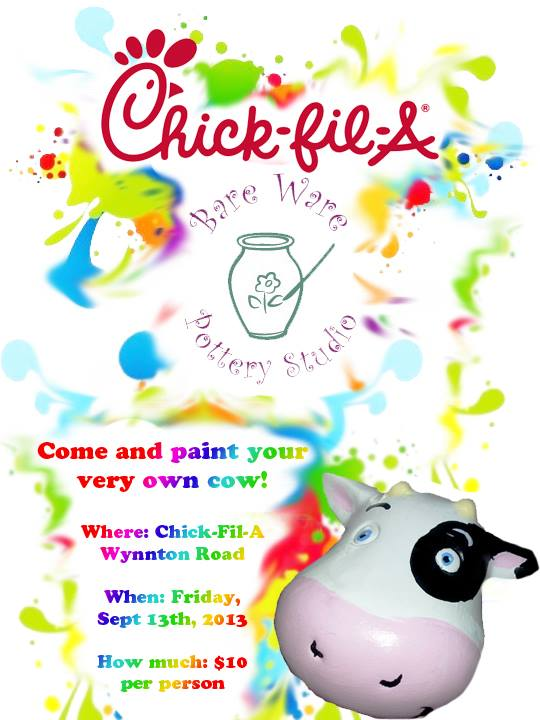 Paint a Cow at Chick-fil-A