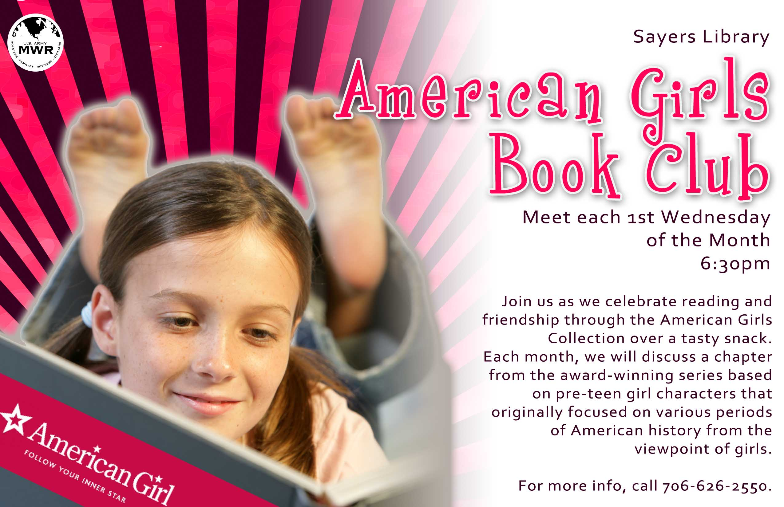 (Ft. Benning) American Girls Book Club at Sayers Library