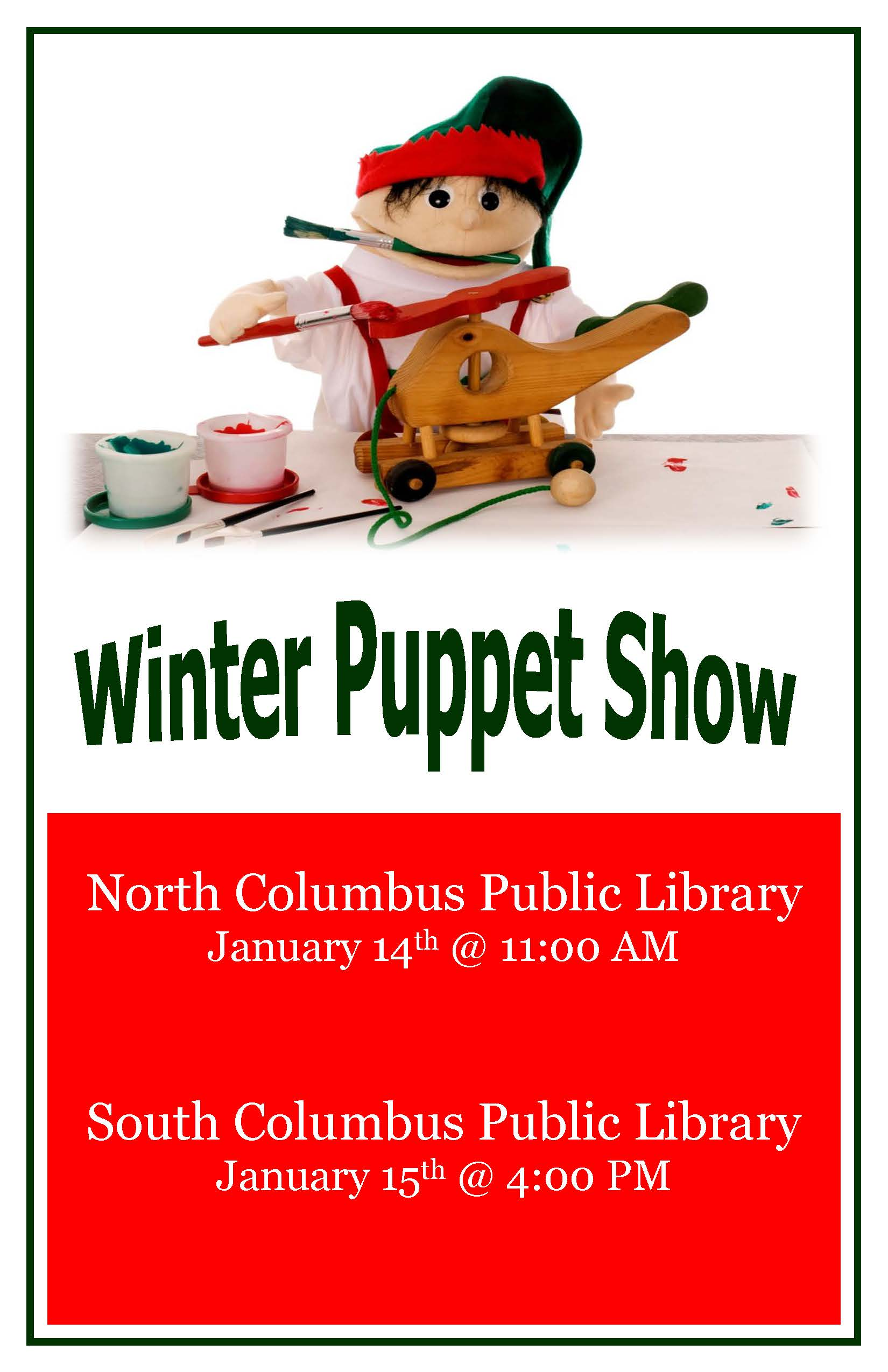 Winter Puppet Shows at the Libraries