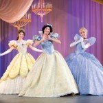 Beloved Disney Princesses Belle from Beauty and the Beast, Snow White and Cinderella appear together live on stage in Disney Live! presents Three Classic Fairy Tales