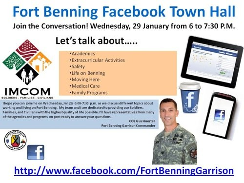 Fort Benning Facebook Town Hall