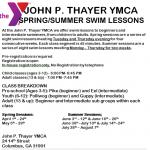 YMCA 2014 Swim lessons