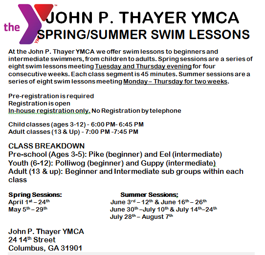 Swim Lessons at Downtown YMCA
