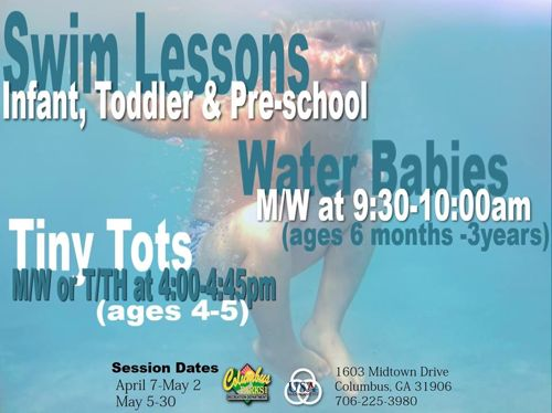Spring 2014 Swimming Lessons at the Columbus Aquatic Center