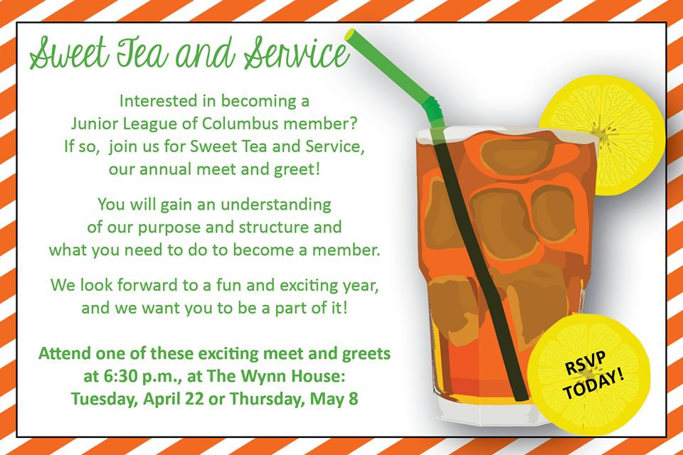 Junior League's Sweet Tea And Service Meet-And-Greet