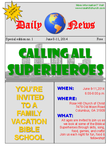 JustHIS League Family Vacation Bible School
