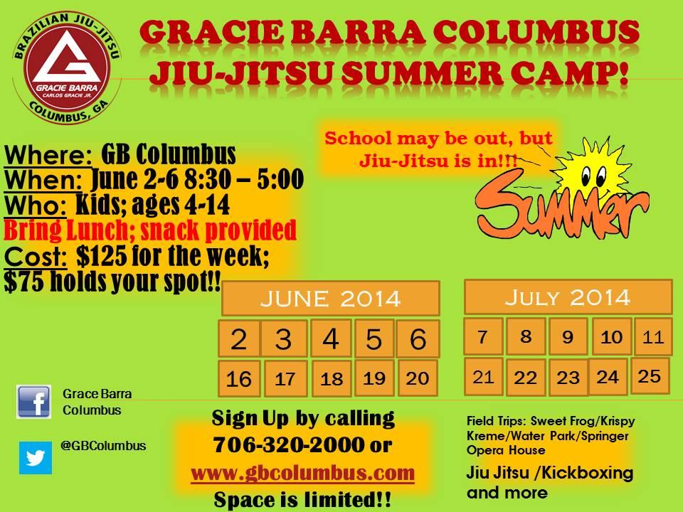 Gracie Barra Columbus Jiu-Jitsu Summer Camp