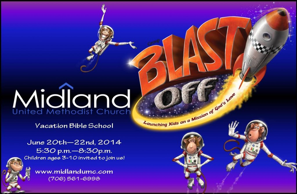 "Blast Off"" VBS at Midland United Methodist Church - Muscogee Moms"