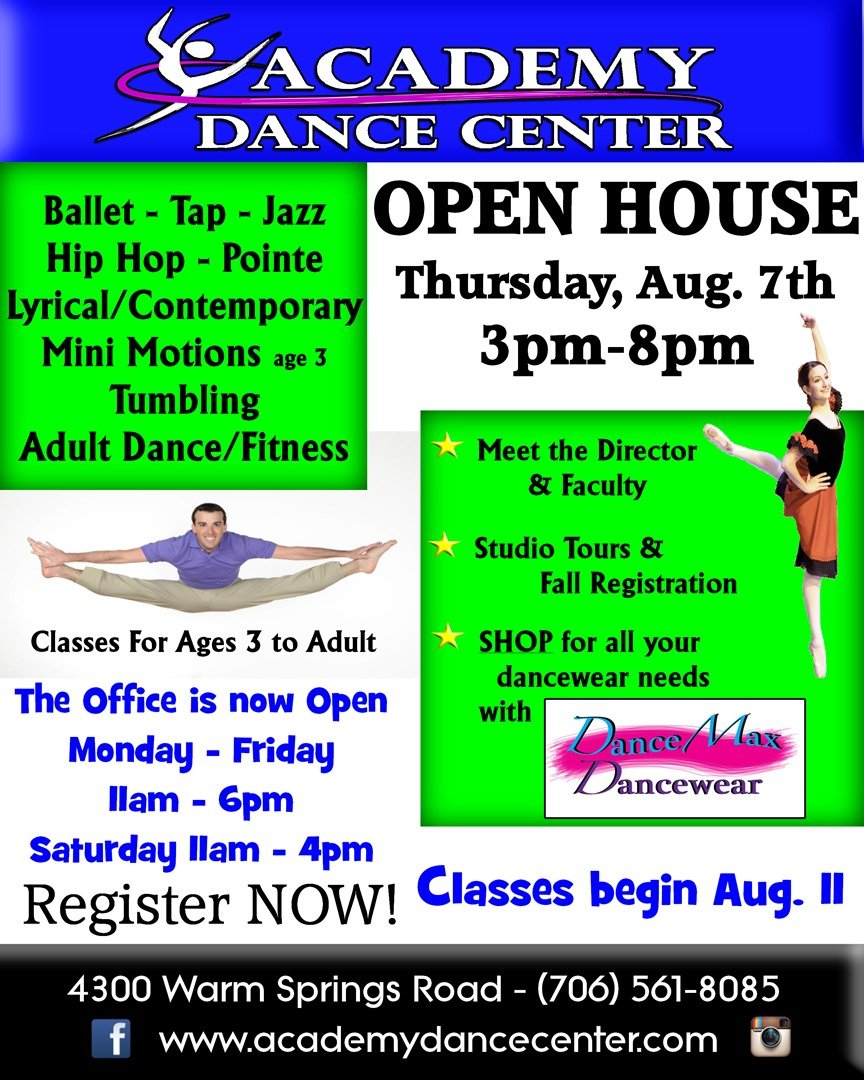Academy Dance Center Registration & Open House