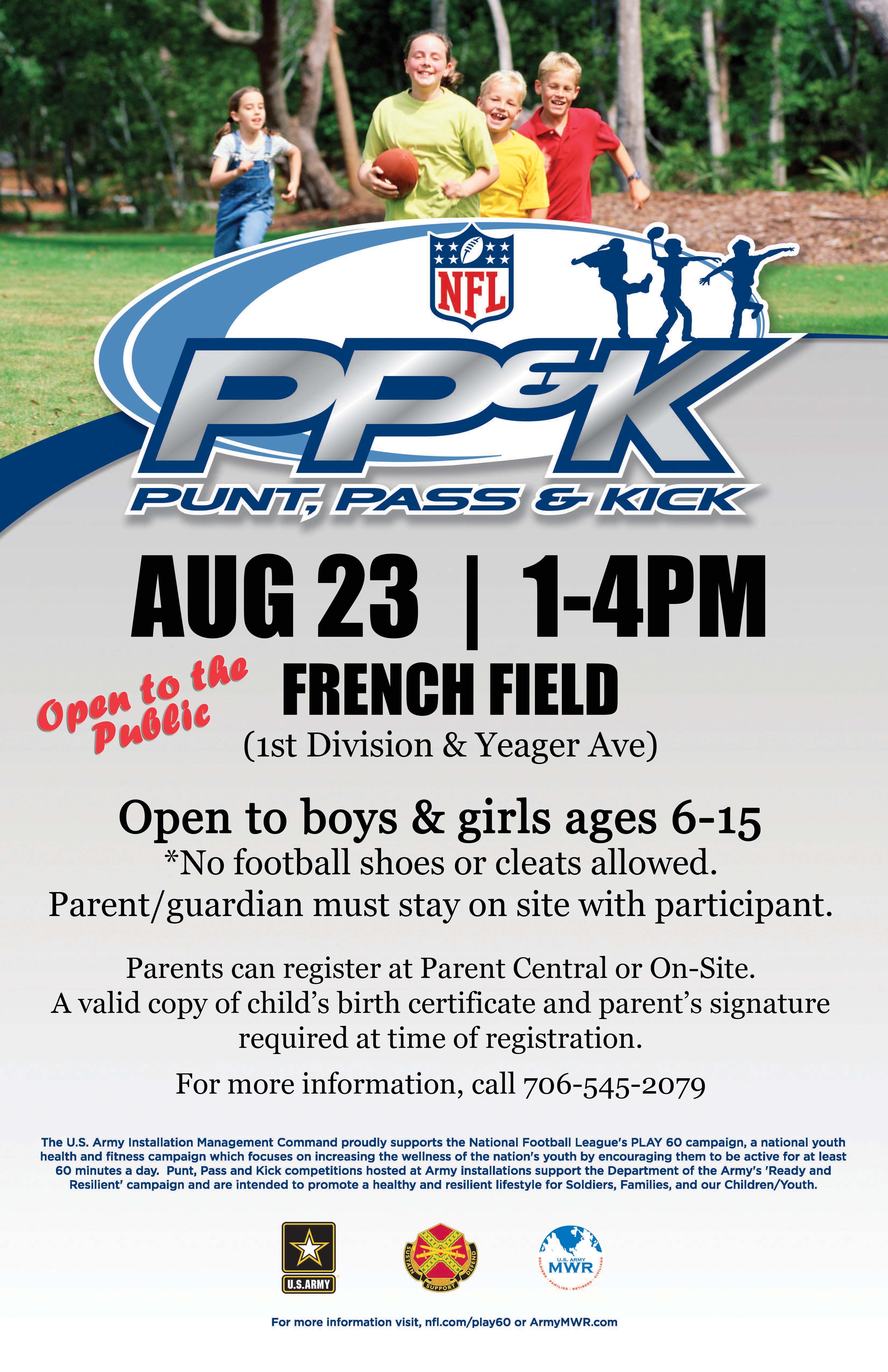NFL Punt, Pass & Kick Class for Boys & Girls