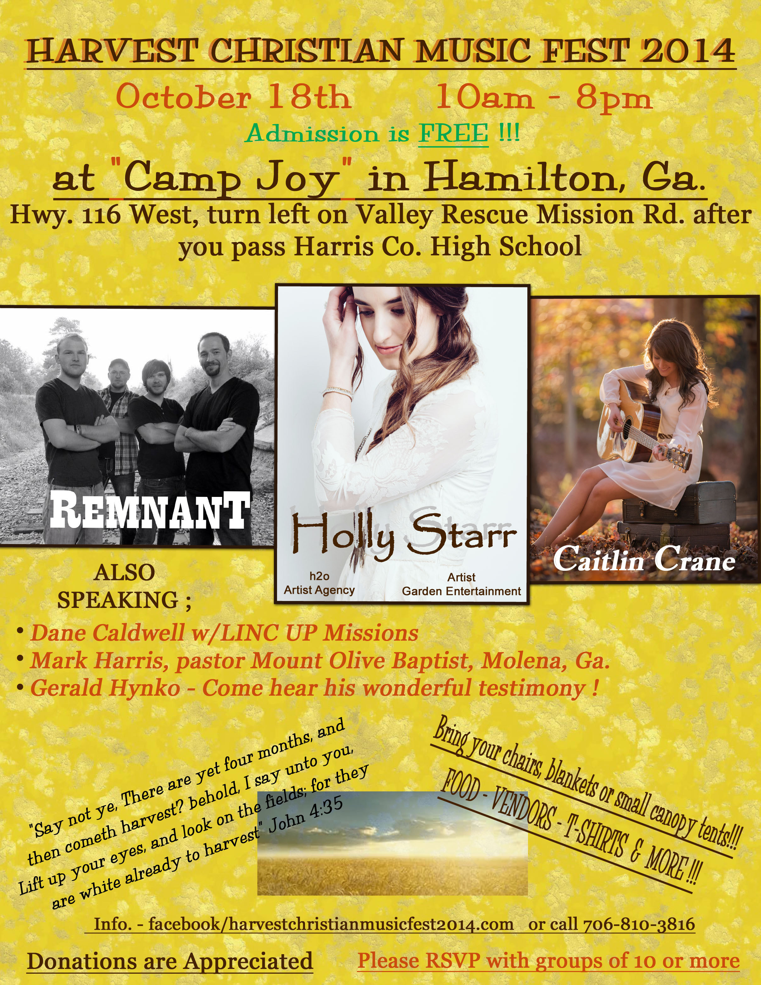 (Hamilton, GA) Harvest Christian Music Fest 2014