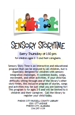Sensory Storytime at Phenix City-Russell County Library