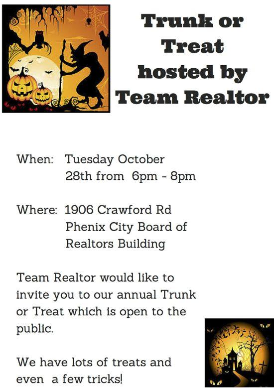 Trunk or Treat at the Phenix City Board of Realtors