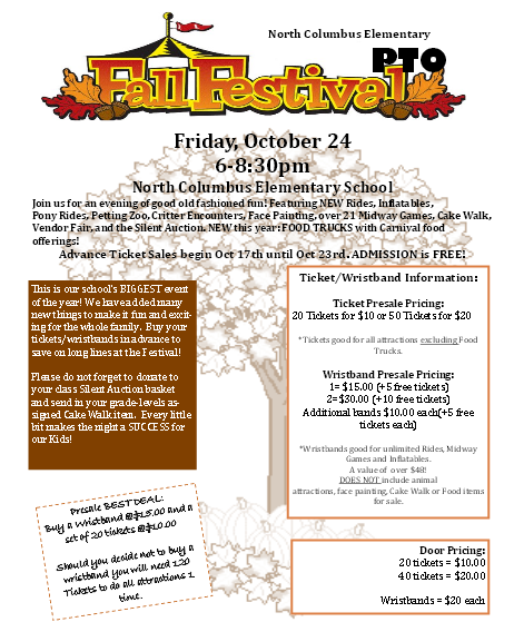 North Columbus Elementary Annual Fall Festival