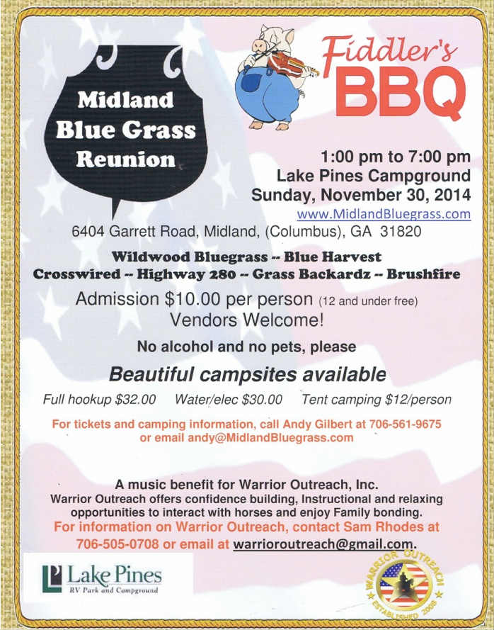 Midland Bluegrass Reunion Fiddler's BBQ