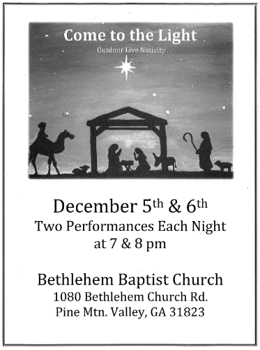 """Come to the Light"" Outdoor Live Nativity at Bethlehem Baptist Church"