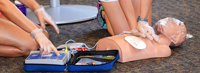 CPR/AED Training at Outdoor World