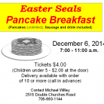 easter seals pancake fundraiser dec 2014