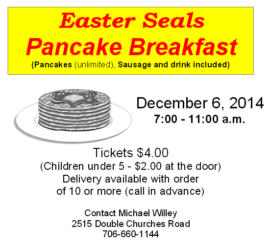 Easter Seals Pancake Breakfast Fundraiser