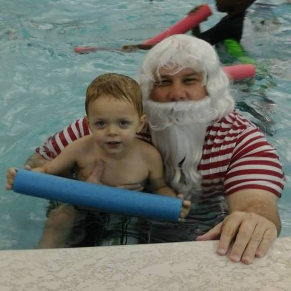 Swim with Santa at the Columbus Aquatic Center