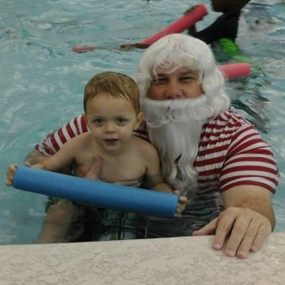 Swim with Santa at the Columbus Aquatic Center