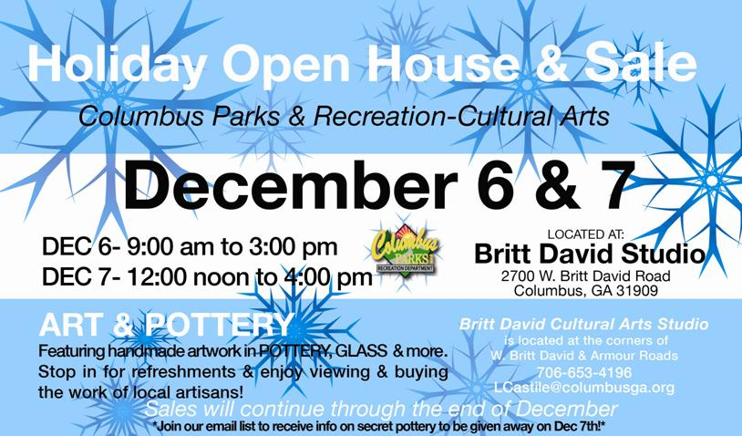 Britt David Holiday Open House & Sale