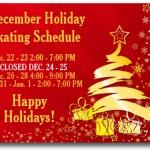 December holiday skating
